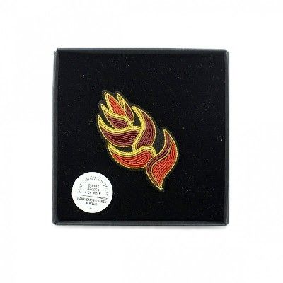 Heliconia Flower Brooch